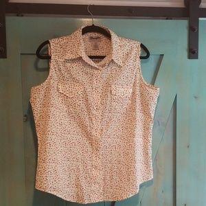 Womens large Wrangler western sleeveless blouse